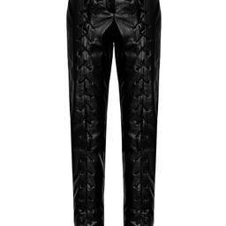 MATÉRIEL Lace-Up Faux Leather Straight-Leg Pants | Moda Operandi (Global)