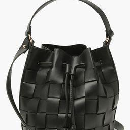 Womens Pu Weave Bucket Bag Cross Body - Black - One Size | Boohoo.com (US & CA)
