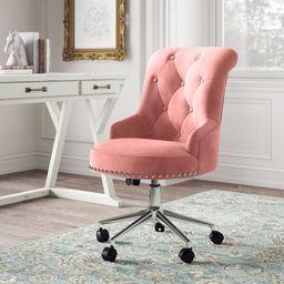 Augusta Velvet Task Chair   Wayfair North America