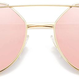 Cat Eye Sunglasses for Women Fashion Designer Style Mirrored Lenses SJ1001   Amazon (CA)