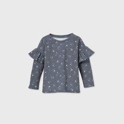 Grayson Mini Toddler Girls' Star Ruffle Sweatshirt - Navy | Target