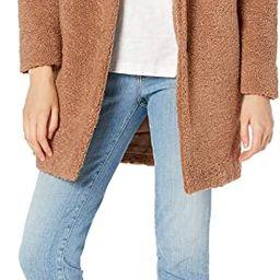 Amazon Brand - Daily Ritual Women's Teddy Bear Fleece Oversized-Fit Lapel Coat | Amazon (US)
