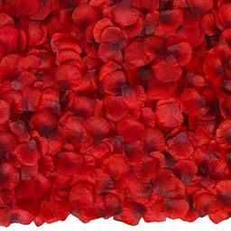 Attmu Valentine's Day Decor 3200 Pcs Silk Rose Petals for Romantic Night, Fake Rose Flower Petals... | Amazon (US)