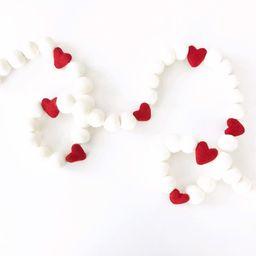 Valentine's Day Felt Ball Garland | Valentine's Decorations | Pom Pom Garland | Felt Heart Garl... | Etsy (US)