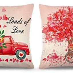 YGEOMER Valentine's Day Pillow Covers 18×18 Inch Set of 2 Valentine's Day Throw Pillow Covers Ho... | Amazon (US)