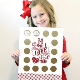 """Valentine's Scratch Off Advent """"14 things I love about you!"""" 