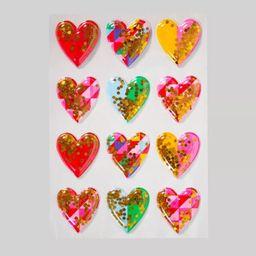 Confetti Filled Valentine's Heart Sticker and 4pc Sticker Label - Spritz™ | Target