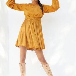 Saniya Mini Dress By Maeve in Gold Size L   Anthropologie (US)