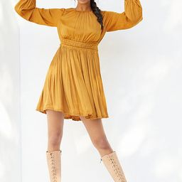 Saniya Mini Dress By Maeve in Gold Size L | Anthropologie (US)