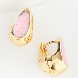 Pamela Love Inlay Huggie Hoop Earrings By Anthropologie in Pink | Anthropologie (US)