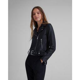 Club Monaco Black Leather Moto Jacket in Size XS | Club Monaco (Global)