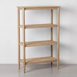 4 Shelf Wood & Cane Bookcase - Hearth & Hand™ with Magnolia | Target