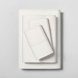 Microstripe Printed Organic Sheet Set - Hearth & Hand™ with Magnolia | Target