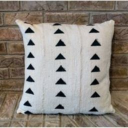 """African Mudcloth Pillow Cover """"""""Natural Triangles"""""""" 18X18 Or 20 X   Etsy (US)"""