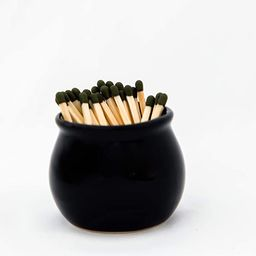 V JANE DESIGN Ceramic Match Striker, Black Matchstick Holder with Striker On Bottom. Cute Matches...   Amazon (US)