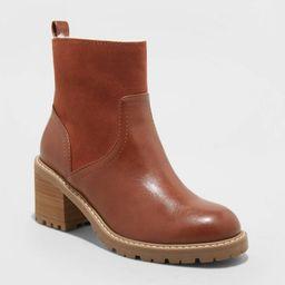 Women's Marla Faux Fur Lug Ankle Boots - Universal Thread™   Target