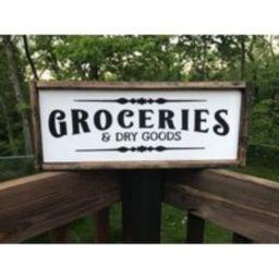 Groceries & Dry Goods Sign   Kitchen Farmhouse Decor   Etsy (US)