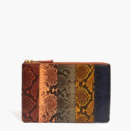 The Leather Pouch Clutch: Colorblock Snake Embossed Edition | Madewell