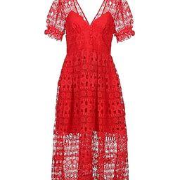 SELF-PORTRAIT Knee-length dress - Dresses | YOOX.COM | YOOX (US)