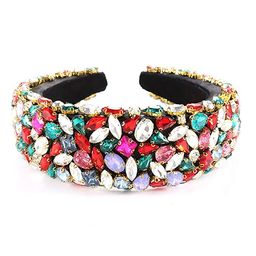 CEALXHENY Rhinestone Crystal Padded Headbands for Women Girls Delicate Bejewelled Hairbands Color... | Amazon (US)
