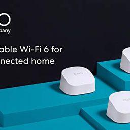 Introducing Amazon eero 6 dual-band mesh Wi-Fi 6 system with built-in Zigbee smart home hub (3-pa... | Amazon (US)
