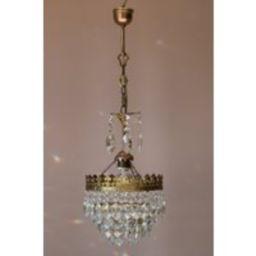 Petite Antique/Vintage Crystal Chandelier, Solid Brass Lighting, Ceiling Lamp, Light & Pendant For H   Etsy (US)