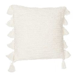 Ivory Cotton Knots Pillow with Tassels   Kirkland's Home