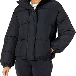 Women's Relaxed-Fit Mock-Neck Short Puffer Jacket | Amazon (US)