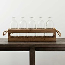 Wooden Crate and Glass Bottle Runner   Kirkland's Home