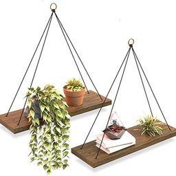 OMYSA Hanging Shelves for Wall & Window Plant Shelf Indoor - Floating Wall Shelves for Bedroom Ba... | Amazon (US)
