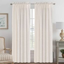 Linen Curtains Light Filtering Privacy Protecting Panels Premium Soft Rich Material Drapes with R... | Amazon (US)