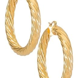 BRACHA Milan Large Hoops in Gold from Revolve.com | Revolve Clothing (Global)