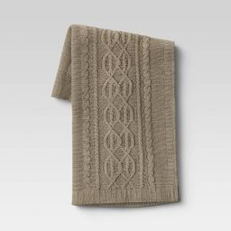 """50""""x60"""" Cable Knit Chenille Throw Blanket - Threshold™ 