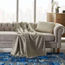 "50""x60"" Knit Chevron Throw Blanket Natural - Nourison | Target"