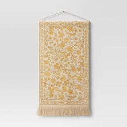 Woven Cotton Printed Wall Tapestry Yellow - Threshold™ | Target