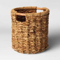 Round Woven Basket with Cut-Off Handle - Threshold™ | Target