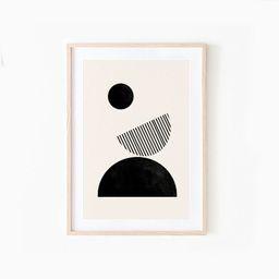 Mid Century Modern, Woodblock Wall Art, Neutral Colors, Modern Minimalist, Woodblock Prints, Geom... | Etsy (US)