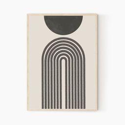 Mid Century Wall Art, Neutral Art, Abstract Print, Wall Decor Printables, Earthy, Digital Downloa... | Etsy (US)