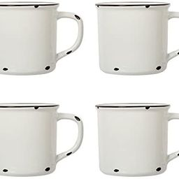 Luciano Housewares Beautiful Distressed Holiday Collection Enamel Coffee Mugs, 15.2 oz, Set of 4 | Amazon (CA)