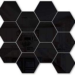 12PCS Wall Stickers, Hexagon Acrylic Removable DIY Home Decorative mural, plastic, tiles, home, l... | Amazon (CA)