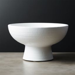 White Pedestal BowlCB2 Exclusive Purchase now and we'll ship when it's available.   Estimated i... | CB2