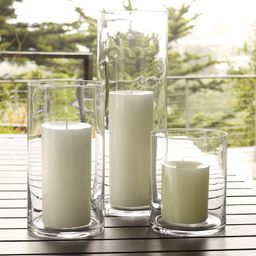 Simple Glass Candleholders   West Elm (US)