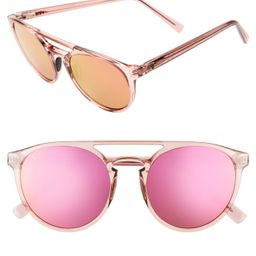 Women's Maui Jim Ah Dang! 52mm Polarizedplus2 Flat Top Sunglasses - Transparent Pink/ Maui Sunrise   Nordstrom