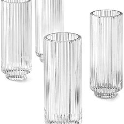 Serene Spaces Living Set of 4 Tall Clear Ribbed Glass Votive Holder, Perfect for Weddings and Hom...   Amazon (US)