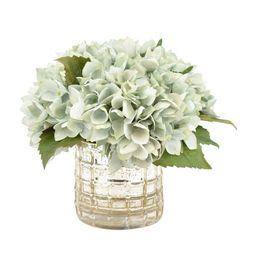 Hydrangea Floral Arrangement in Vase   Wayfair North America