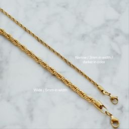 FRENCH TWISTED ROPE CHAIN NECKLACE (2 styles)   Shapes Studio