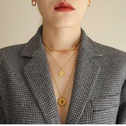 Retro 18K Gold Plated Coin Necklaces / Choker Set Women   Etsy   Etsy (US)