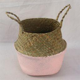 Meigar Plant Basket,Foldable Rattan Straw Basket Flower Pot Hanging Wicker Storage Basket Garden Acc | Walmart (US)