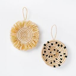 Set of 2 Artisan Woven Ornaments Disc Style Black - Threshold™ designed with Studio McGee   Target