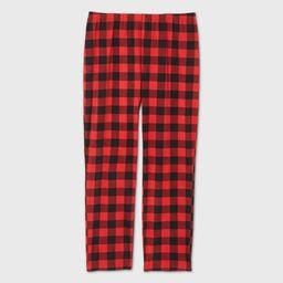 Women's Plus Size Holiday Buffalo Check Fleece Matching Family Pajama Pants - Wondershop™ | Target
